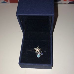 Swarovski starfish ring